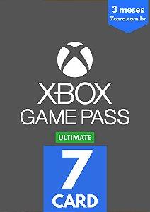 CARTÃO XBOX GAME PASS ULTIMATE 3 MÊS