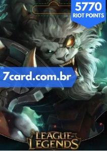 CARTÃO LEAGUE OF LEGENDS 5770 RIOT POINTS