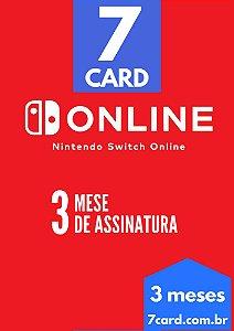 CARTÃO NINTENDO SWITCH ONLINE 3 MESES - BRASIL