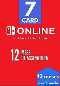 CARTÃO NINTENDO SWITCH ONLINE 12 MESES - BRASIL