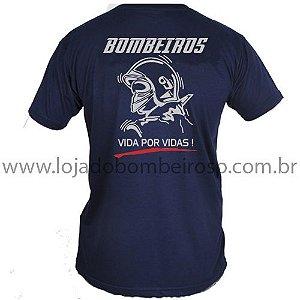 Camiseta Vida por Vidas Azul Marinho