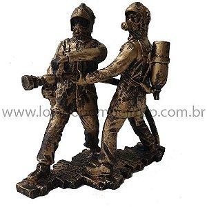 Estatueta Bombeiro Duplo