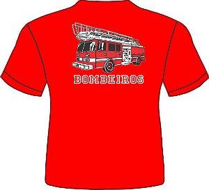 Camiseta Infantil Viatura - Vermelha