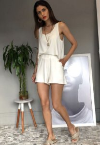 Conjunto shorts moletinho Liliane