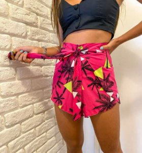 Short Nó Coqueiro Pink