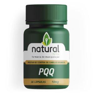 PQQ 10MG 30 Cápsulas - Previna-se Contra Cabelos Brancos | Natural Forma