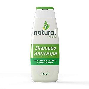 Shampoo Anticaspa com Ciclopirox Olamina e Ácido Salicílico 100ML