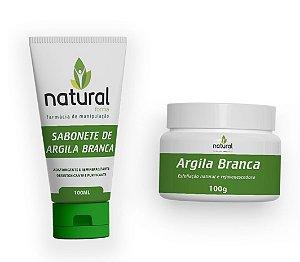 Kit de Argila Branca | Sabonete + Argila