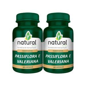 Passiflora + Valeriana 60 Cápsulas - Kit 2 Unidades