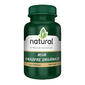 MSM Enxofre orgânico 400MG 60 Cápsulas
