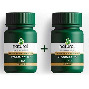 Vitamina D + Vitamina K2 (Mk-7) - PAGUE 1 LEVE 2