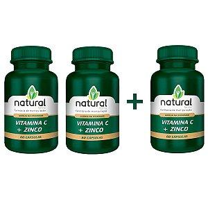 Vitamina C + Zinco 60 Cápsulas - Leve 3 e pague 2