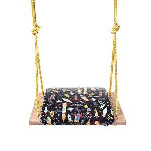 Balanço Infantil 3+ Assento Acolchoado Acquablock Coiseteria - Foguetes