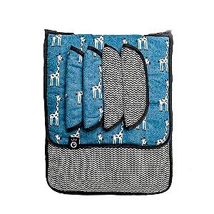 Protetor/Capa de Carrinho de Bebê Universal Duplaface 3 em 1 Coiseteria estampa Girafales