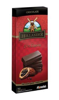 CHOCO HOLLANDER 71% CACAU 20G - UNIDADE