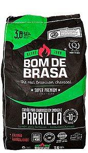 CARVÃO BOM DE BRASA 3.8 KG PARRILLA SUPER PREMIUM EXPORTAÇÃO