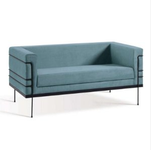 Sofa Betina 2 Lugares Azul