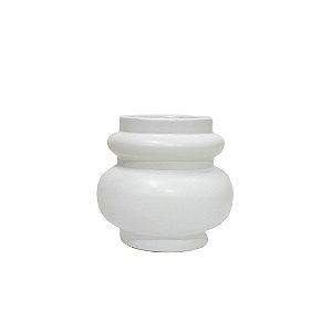 Vaso Cerâmica Branco Estúdio Terra