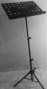 Pedestal de partitura (folhas) preto desmontável