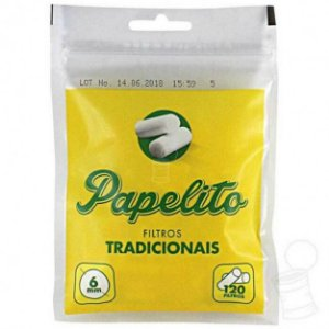 Filtro para Cigarro Papelito Tradicional 6mm (Pacote com 120)