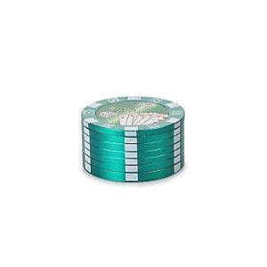 Dichavador de Metal Poker Chips - Verde
