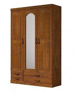 Roupeiro 3 Portas Com Espelho Parma