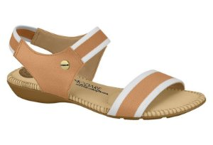 Sandália Modare Elástico Branco-Caramel0 7025334