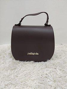 Bolsa Petite Jolie Saddle Cinza Escuro PJ2415