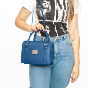 Bolsa Petite Jolie Baú Azul PJ10142
