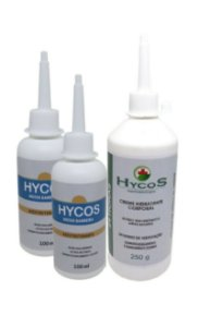 KIT2 Cremes Reestruturante Hycos 100ml + (Brinde) 1 Loção Hidratante Corporal 24h Hycos 250g