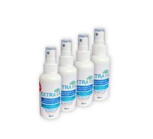 Kit 4 Fluido Antisséptico e Hidratante para as Mãos 100ml