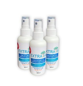 Kit 3 Fluido Antisséptico e Hidratante para as Mãos 100ml