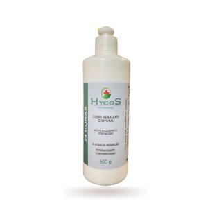 Creme Hidratante Corporal 24h Hycos 500g Para pele com Psoríase, Dermatite Atópica ou Ressecada