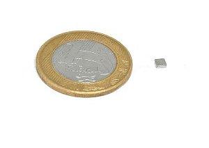 Ímã Neodímio N50 Bloco 3x3x1 mm