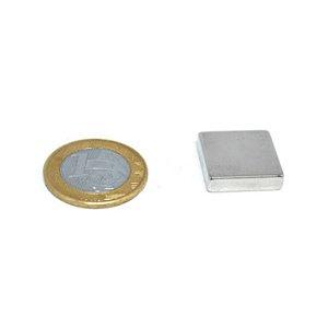 Ímã Neodímio N35 Bloco 20x20x5 mm