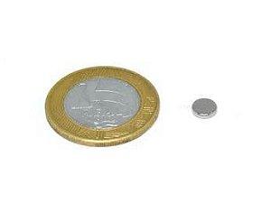 Ímã Neodímio N35 Pastilha 6x1,5 mm