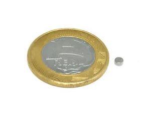 Ímã Neodímio N35 Pastilha 3x1,5 mm