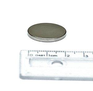 Ímã Neodímio N35 Pastilha 22x3 mm