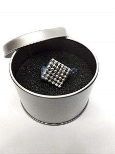 Cubo Magnético 216 Esferas 3mm Prata Bucky Balls Neocube