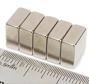 Ímã Neodímio N35 Bloco 10x10x5 mm