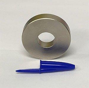Ímã Neodímio N35 Anel 48x17,5x10mm