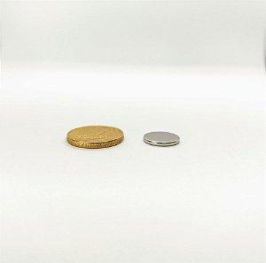 Ímã Neodímio N35 Pastilha 12,5x1,5 mm