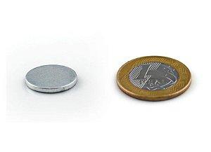 Ímã Neodímio N35 Pastilha 14x2 mm