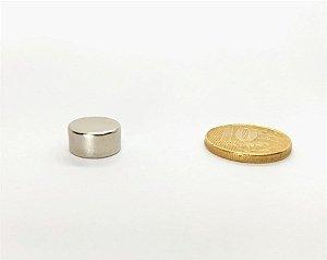 Ímã Neodímio N35 Pastilha 12,7x6,35 mm