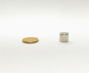 Ímã Neodímio N35 Cilindro 11x10 mm
