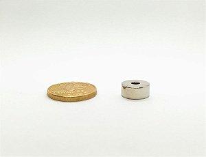 Ímã Neodímio N35 Anel 11,3x3,3x5 mm