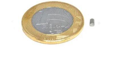 Ímã Neodímio N35 Cilindro 2x3 mm