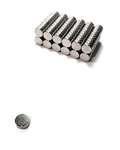Ímã Neodímio N35 Pastilha 5x2 mm - 60 UNIDADES