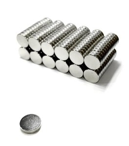 Ímã Neodímio N35 Pastilha 12x3 mm - 30 UNIDADES