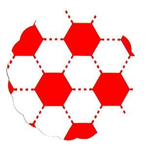 Tapetinhos Fundo para doces Futebol Vermelho e Branco - 100Un